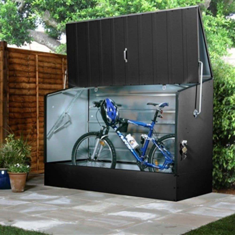 Trimetals Bicycle Store   Biking   Bicycle Storage Shed ... tout Trimetals Abri Jardin