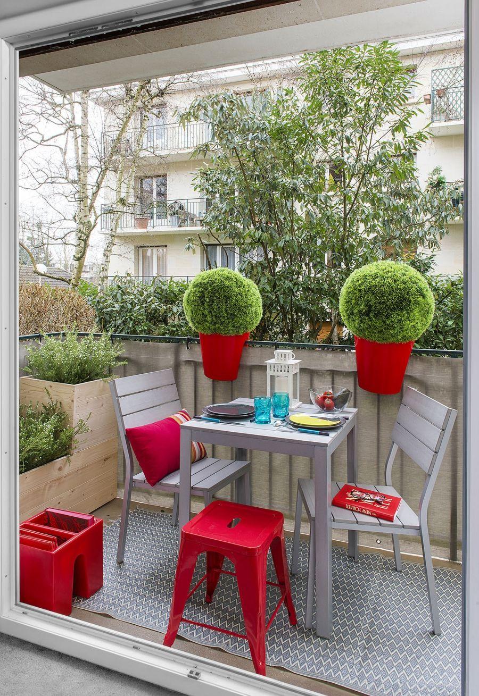 Trois Idées Déco Pour Aménager Un Balcon | Décoration Balcon ... encequiconcerne Mini Jardin Balcon
