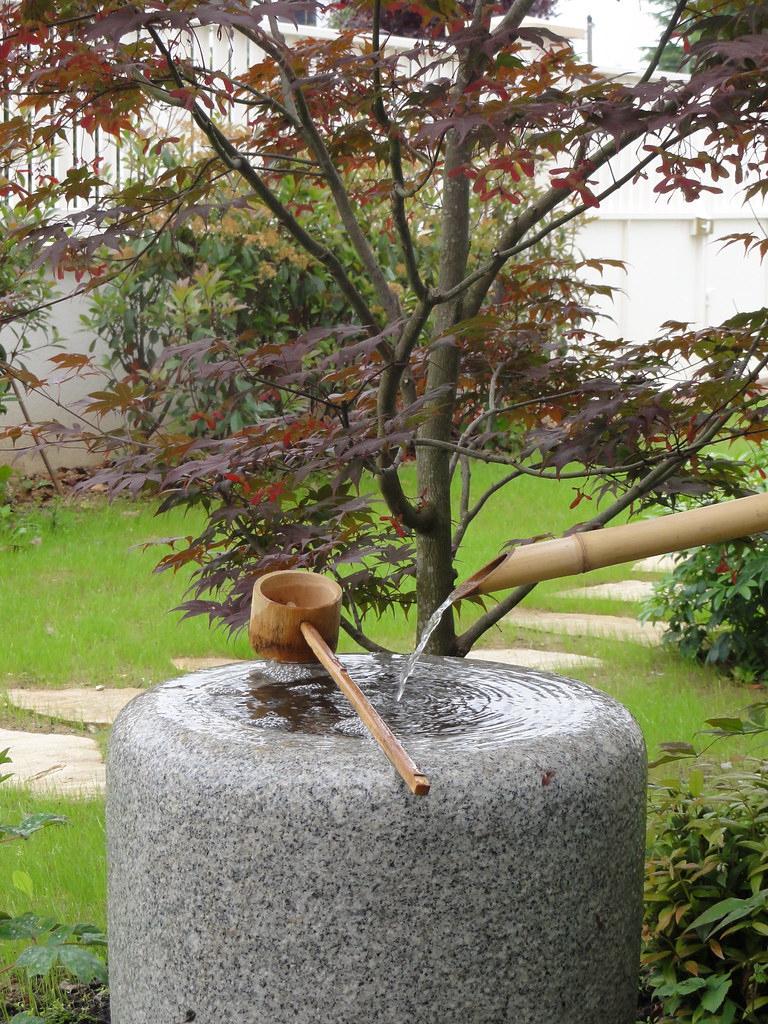 Tsukubaï (Fontaine Japonaise En Granit) | Jardins Du Japon ... concernant Fontaine Jardin Japonais