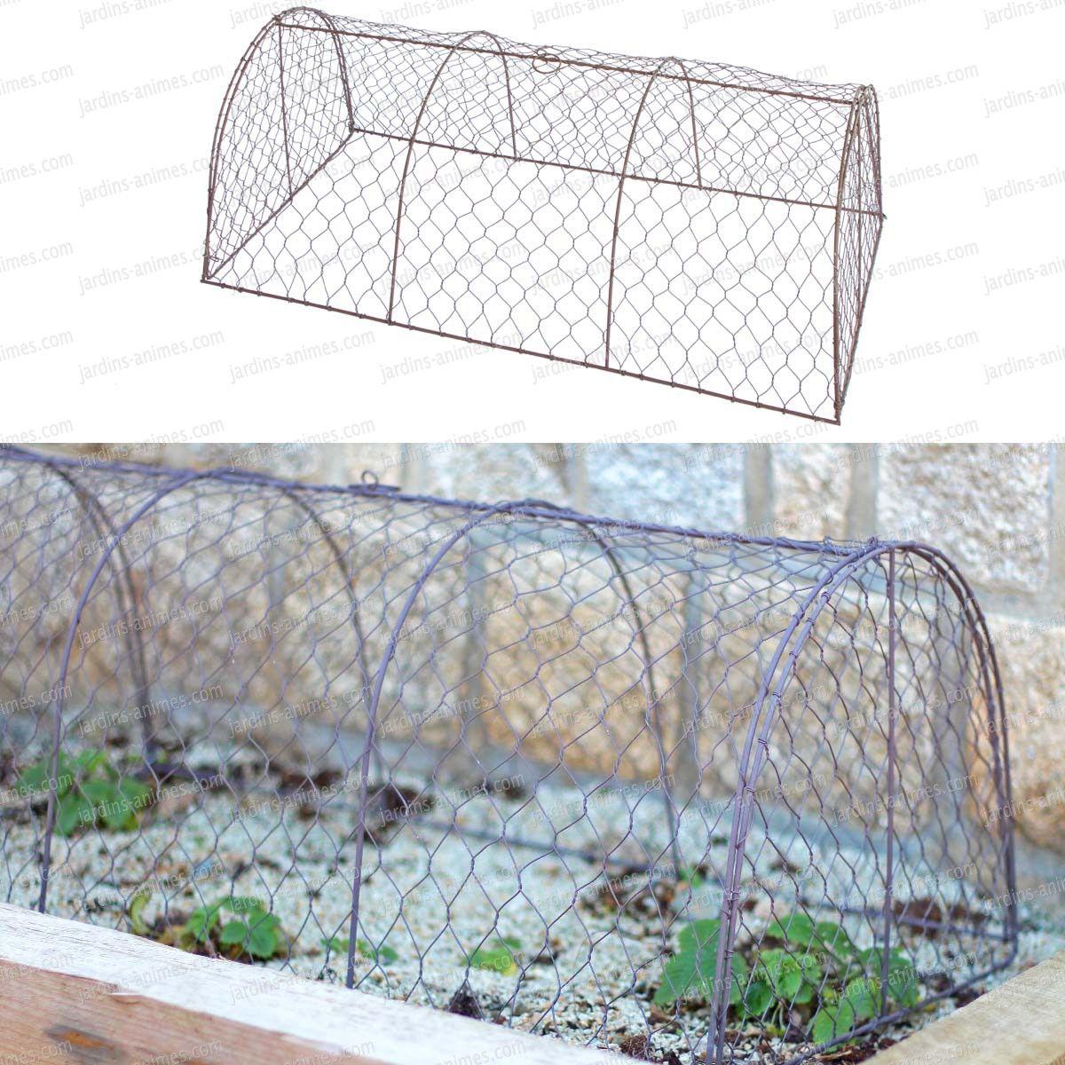 Tunnel De Protection En Grillage À Poule | Grillage A Poule ... à Tunnel Pour Jardin