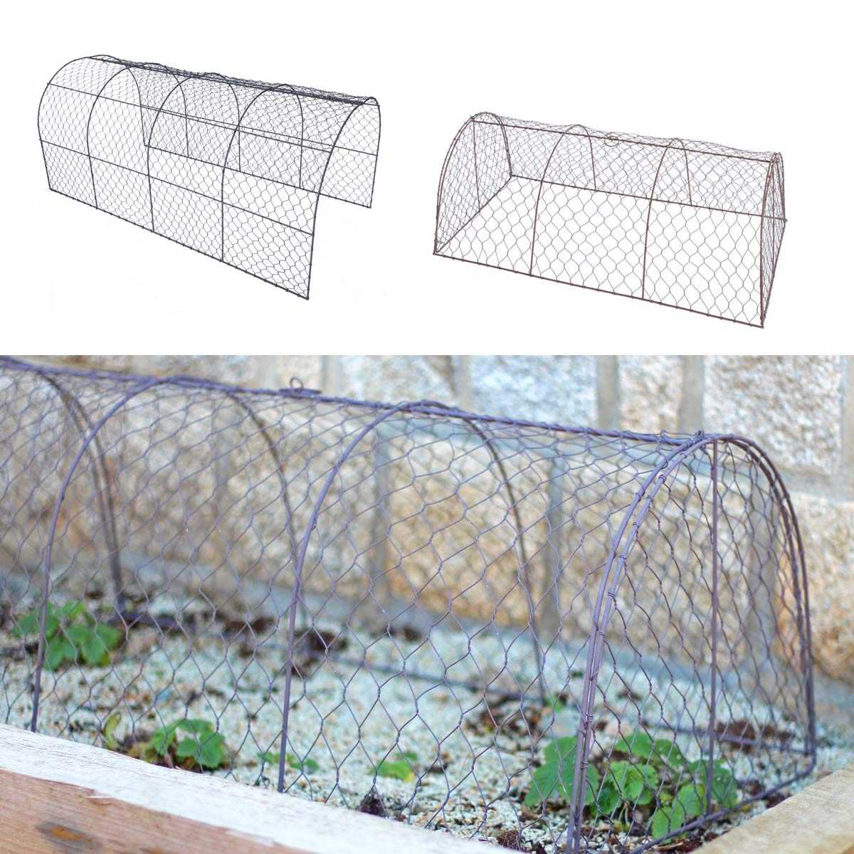 Tunnel De Protection En Grillage À Poule intérieur Bordure De Jardin En Grillage
