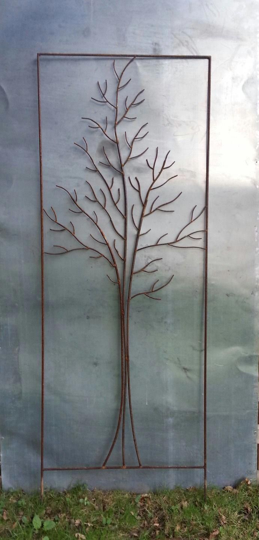 """Tuteur De Jardin,paravent À Végétaliser, """"arbre"""" De Métal ... intérieur Sculpture Moderne Pour Jardin"""
