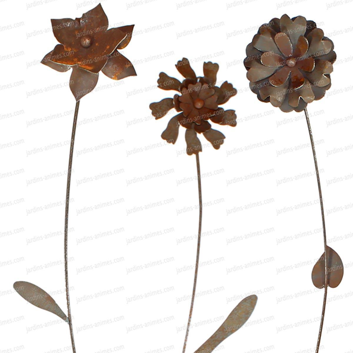 Tuteur Fleur Decorative En Fer Forgé destiné Decoration De Jardin En Fer Forgé