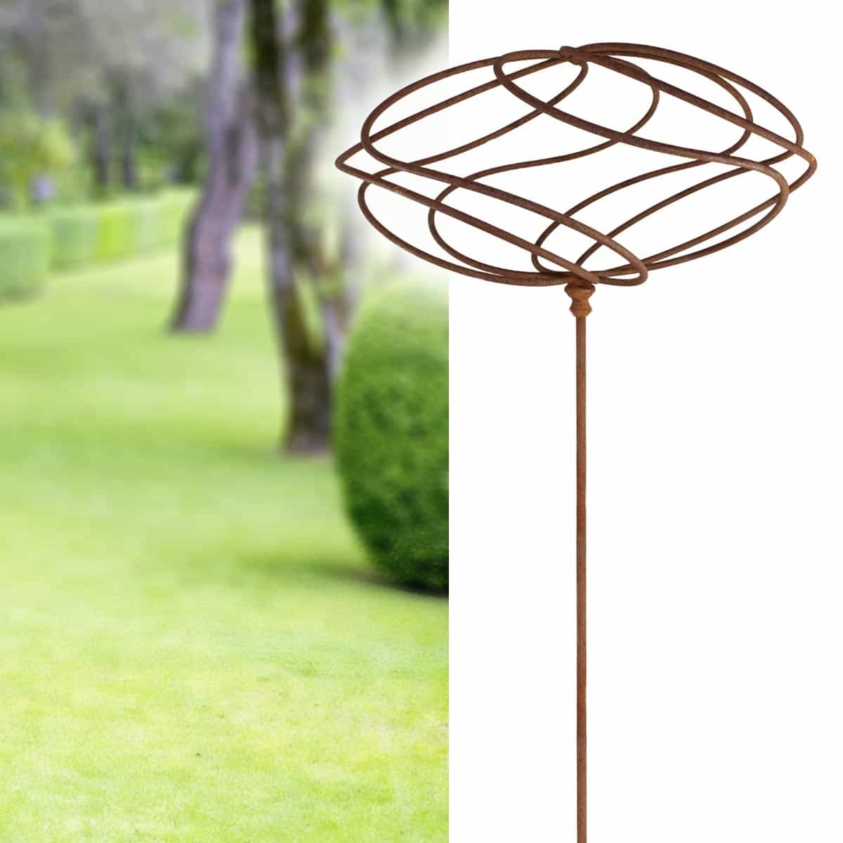 Tuteur Sculpture Ellipse En Fer Brut encequiconcerne Jardins Animés Sculpture