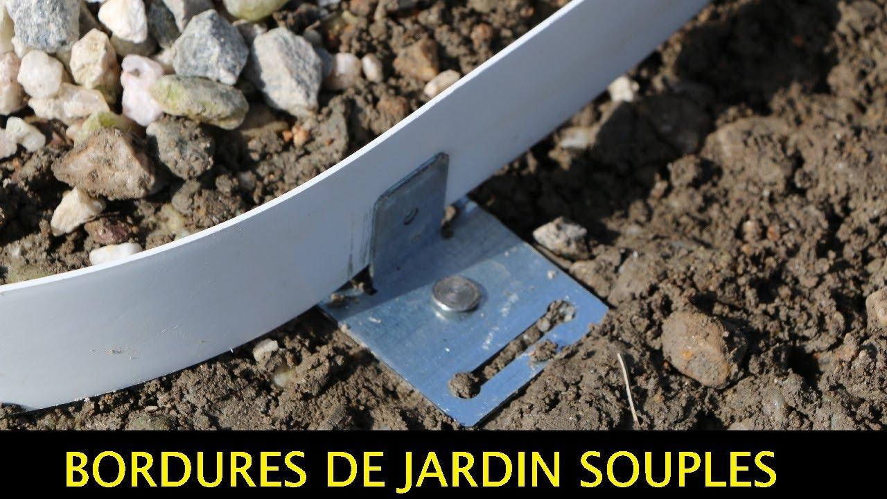 Tuto : Comment Poser Bordures De Jardin Souples Pvc-Galva-Corten - Apanages dedans Bordure Courbe Jardin