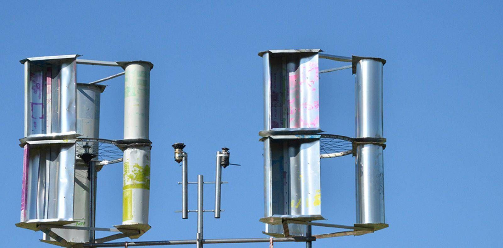 Tuto : Fabriquer Une Éolienne Verticale Récup' - Comment ... à Construire Une Eolienne De Jardin