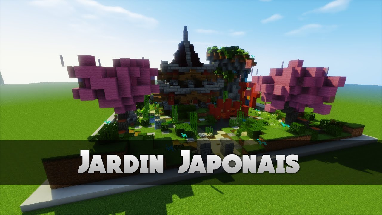 Tuto Jardin Japonais ! | Minecraft à Construction Jardin Japonais