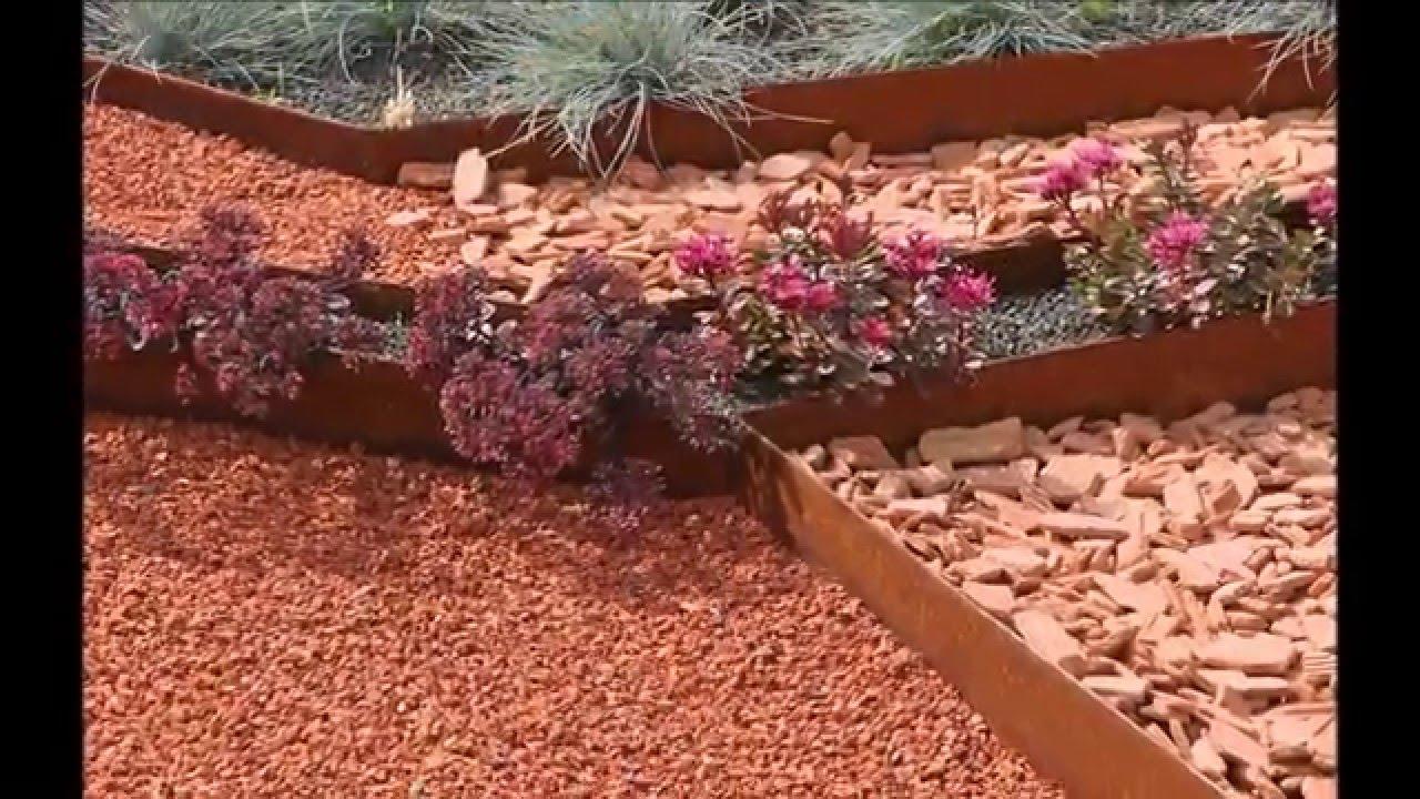 Tuto: Posez Vos Bordures De Jardin Souples Acier Corten Acier Galva Et Alu  - Apanages serapportantà Jardin Zen Belgique