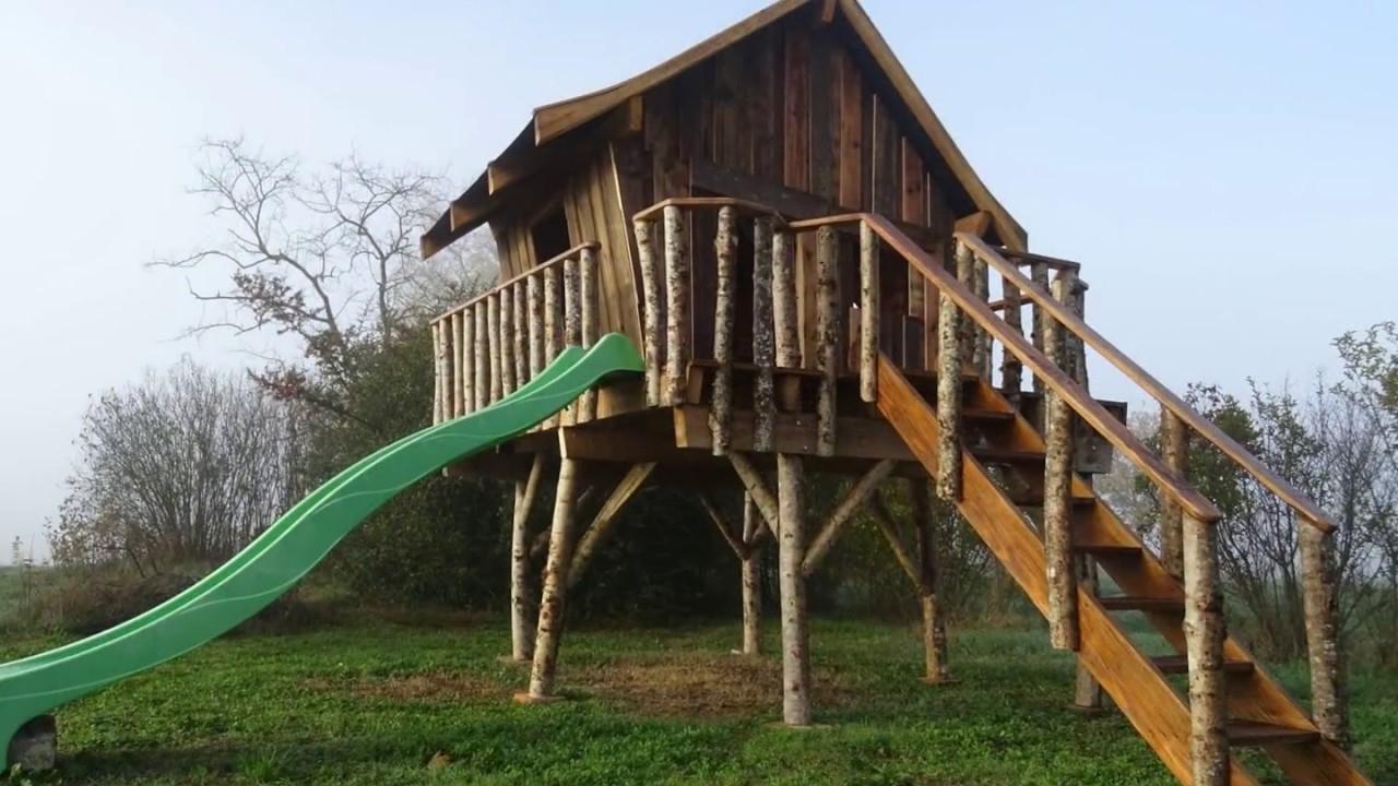 Tuto Pour La Fabrication D'une Cabane En Bois Sur Pilotis Pour Enfant encequiconcerne Cabanne Jardin Enfant