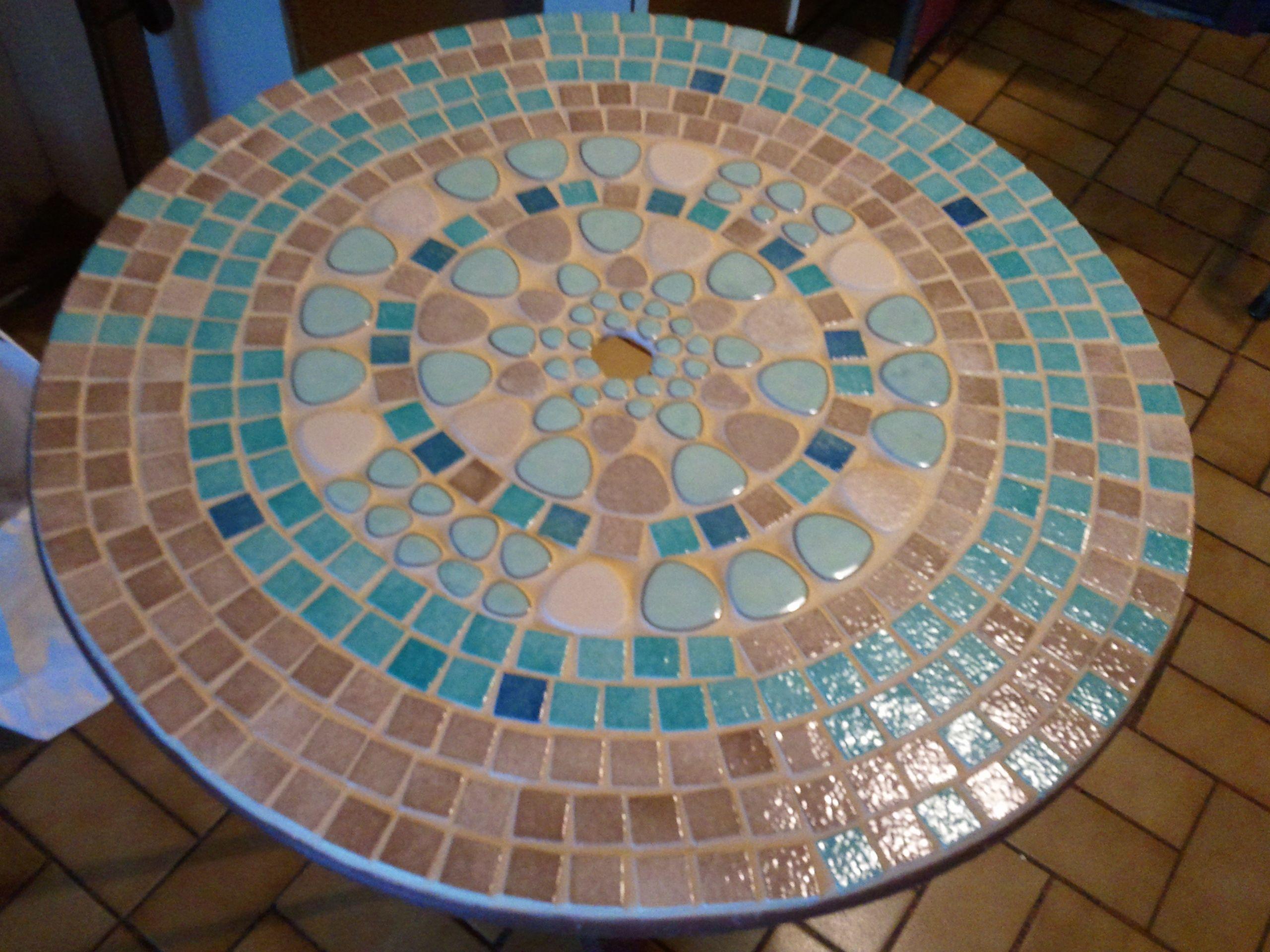 Tutoriel Table De Jardin En Mosaïque () - Femme2Decotv ... serapportantà Table De Jardin En Mosaique