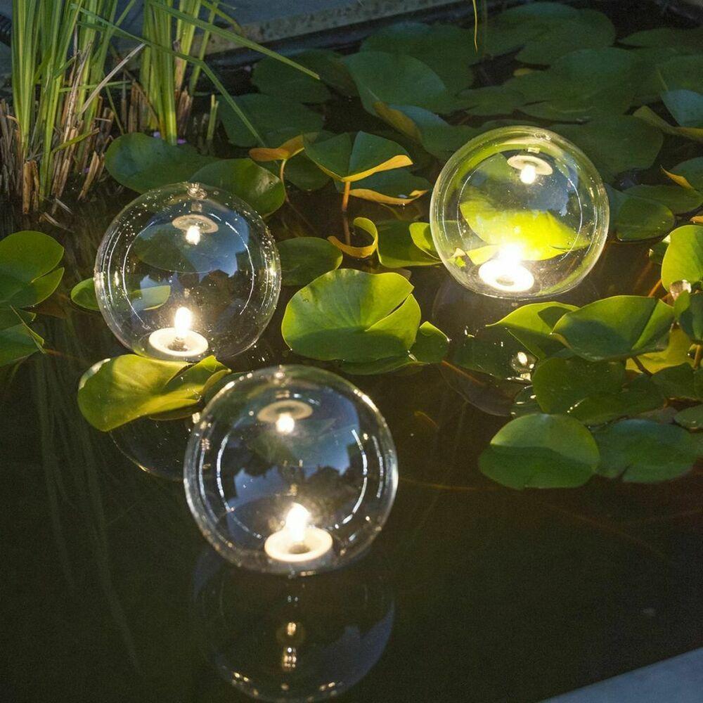 Ubbink Boules Lumineuses Multibright Float 3 Led Lampe De ... tout Boule Lumineuse Jardin
