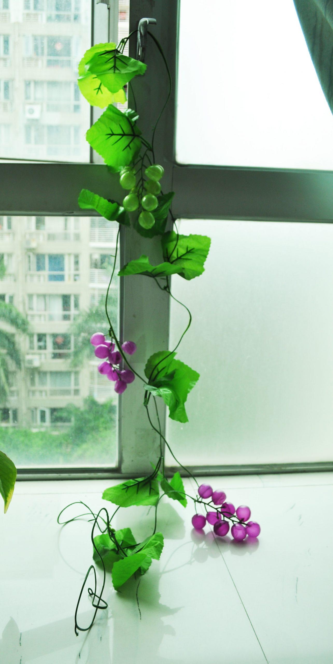 Uesh-Ev Dekoratif Yeşil Yapay Üzüm Asması 7.9 Ft destiné Salon De Jardin Hawai