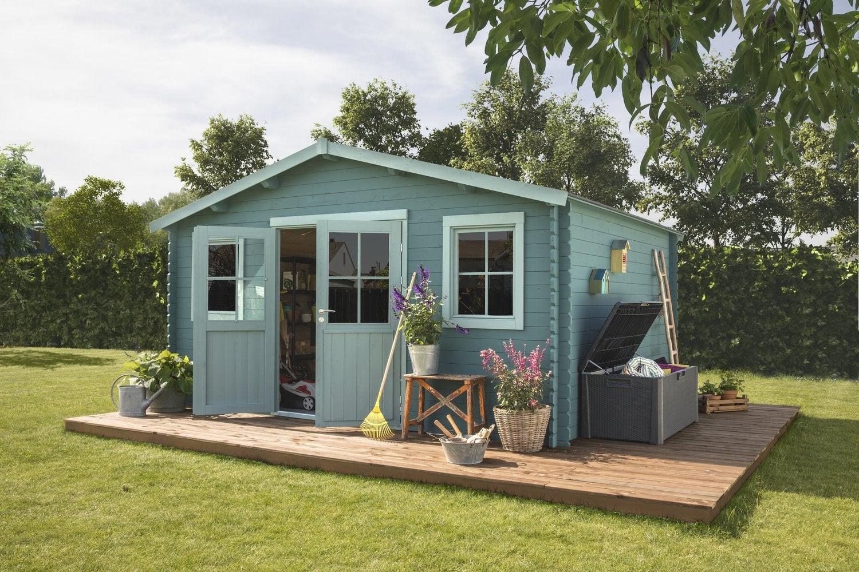 Un Abri De Jardin Pratique Et Esthétique | Leroy Merlin pour Chalet De Jardin Leroy Merlin