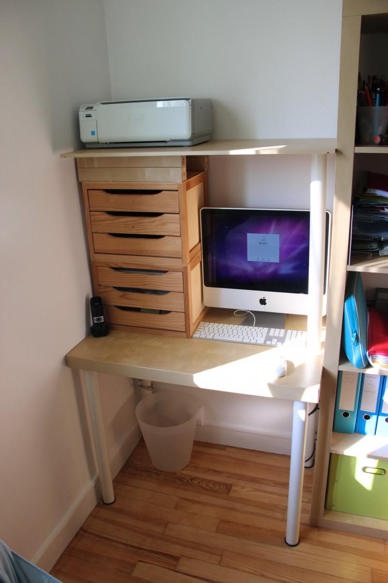 Un Bureau À Petit Prix Avec Lack serapportantà Mobilier De Jardin Ikea