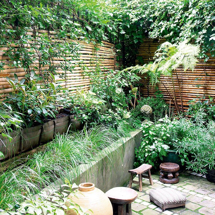 Un Jardin 100% Green Comme Une Jungle - Marie Claire avec Amphore De Jardin