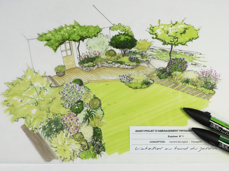 Un Jardin À Étages Remanié Pour Être Rafraichi, Et Refleuri ... serapportantà 3D Jardin & Paysagisme