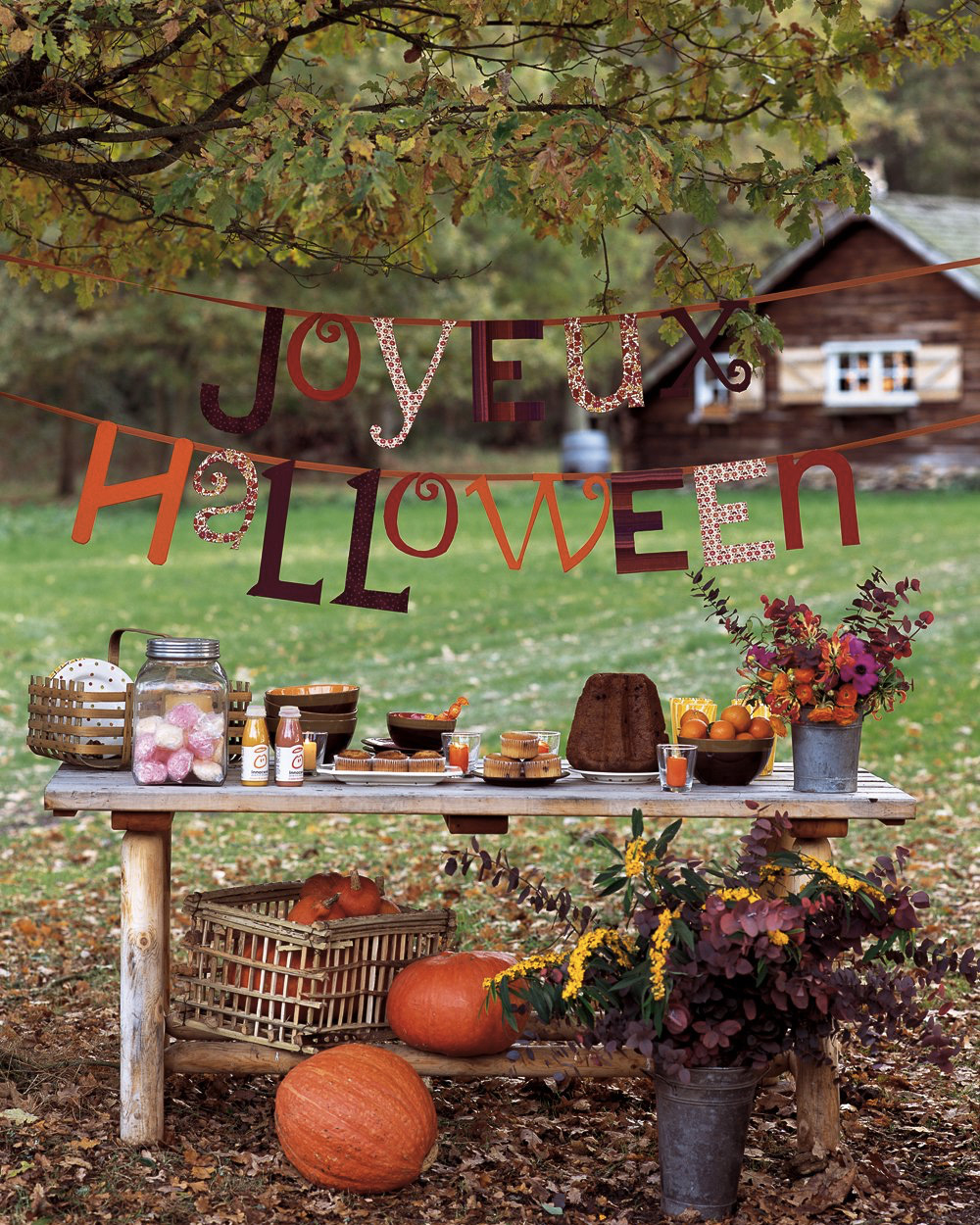 Un Jardin Décoré Pour Halloween   Shake My Blog serapportantà Deco Jardin Halloween
