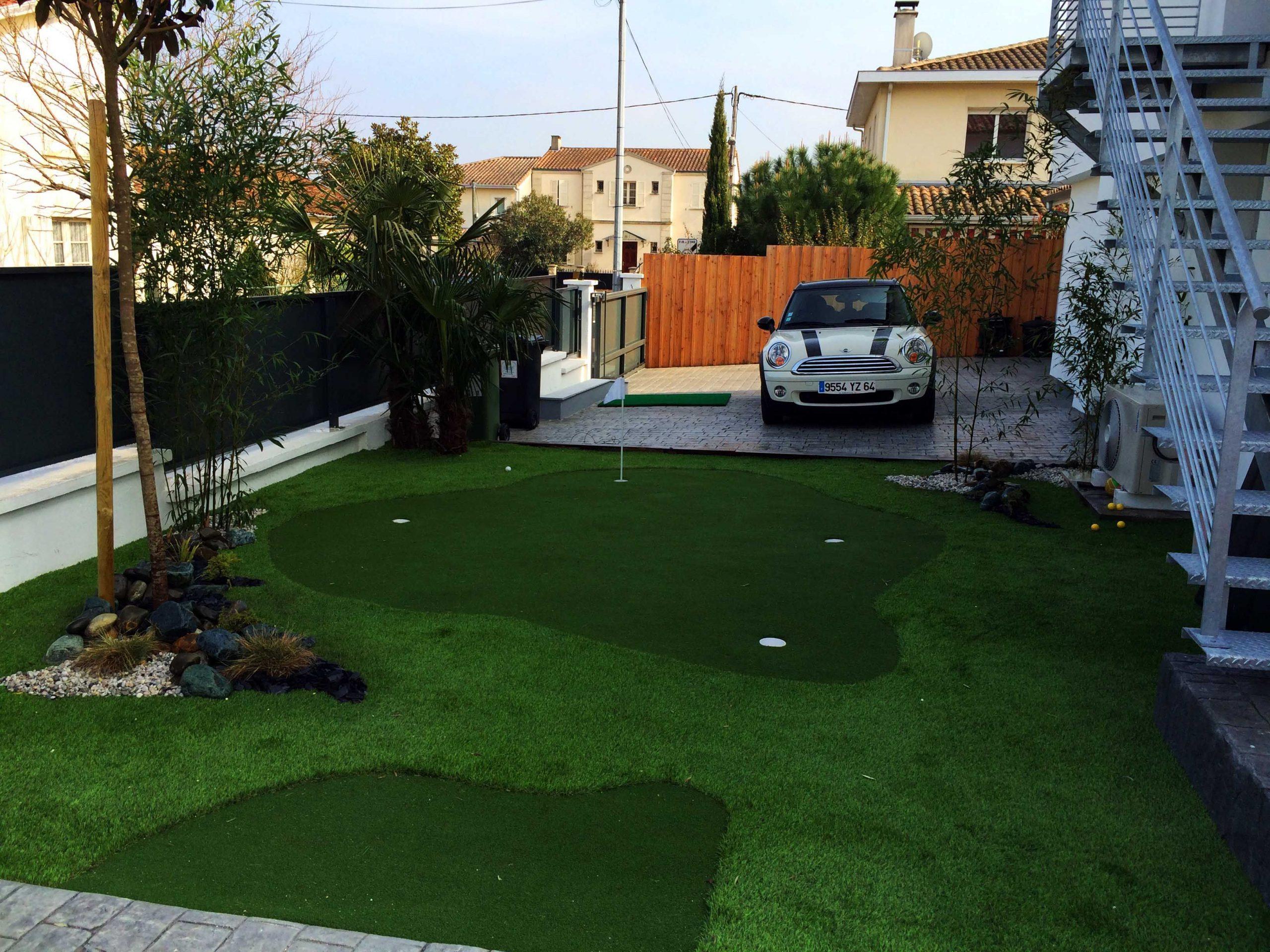 Un Mini Golf À Domicile | Idée Aménagement Jardin ... serapportantà Entretien Jardin Bordeaux