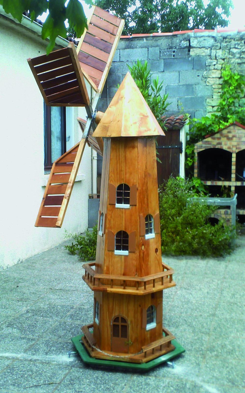 Un Moulin À Vent Pour Le Jardin   Bois+ Le Bouvet dedans Moulin A Vent Jardin