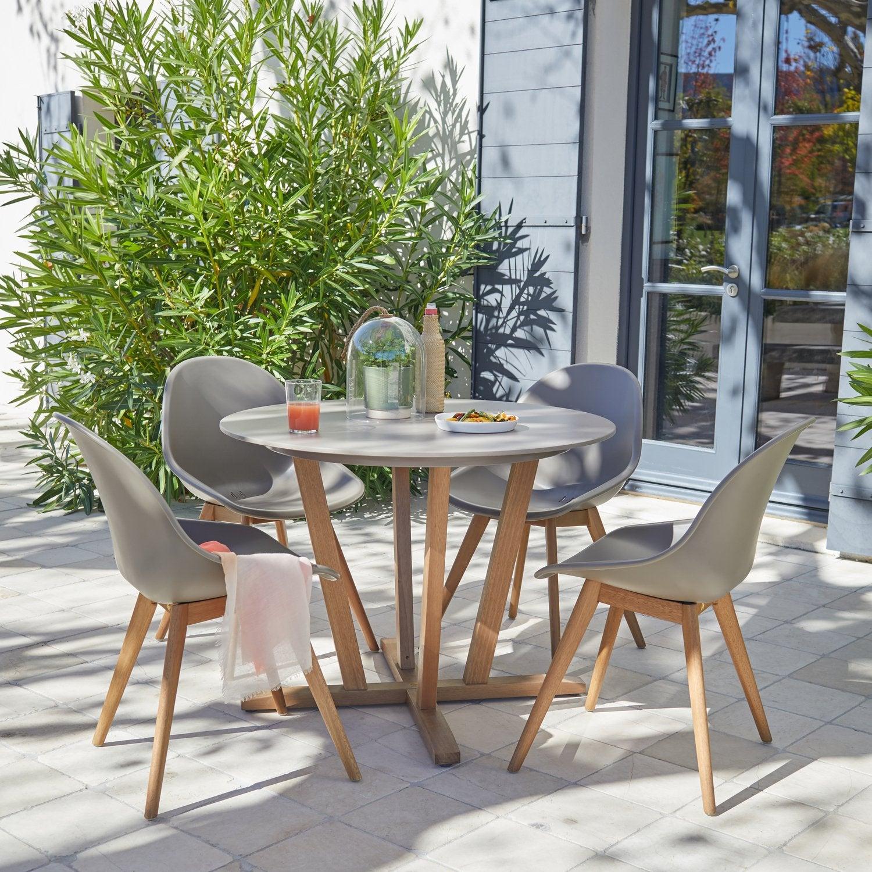 Un Salon De Jardin Au Style Scandinave | Leroy Merlin tout Salon De Jardin En Resine Leroy Merlin