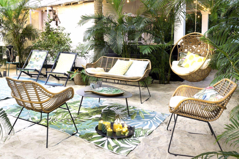 Un Salon De Jardin Pas Cher Vintage, Maisons Du Monde, #cher ... à Salon De Jardin Pas Chere