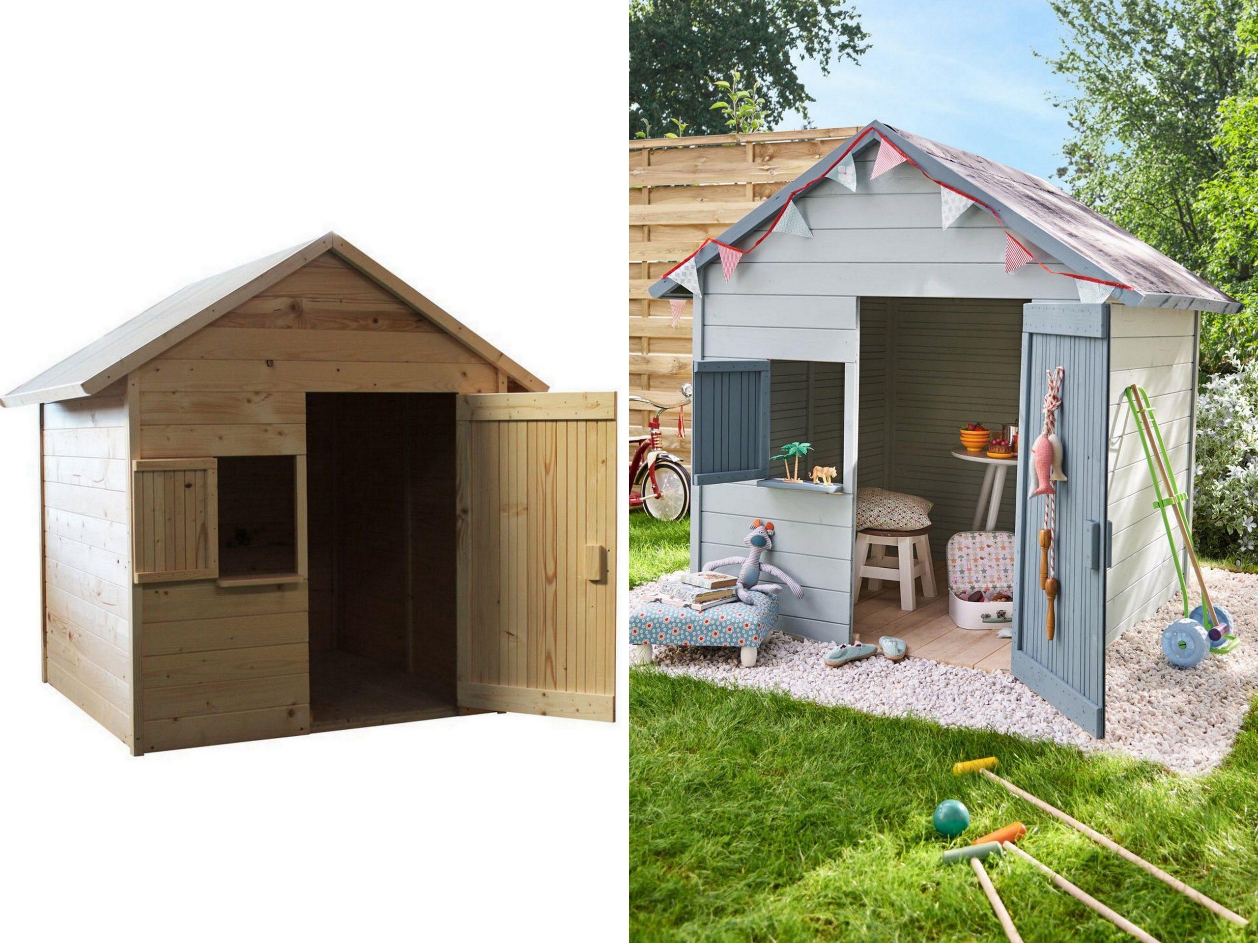 Une Cabane En Bois Pour Enfant À Prix Doux | Abri De Jardin ... intérieur Maisonnette De Jardin Pas Cher