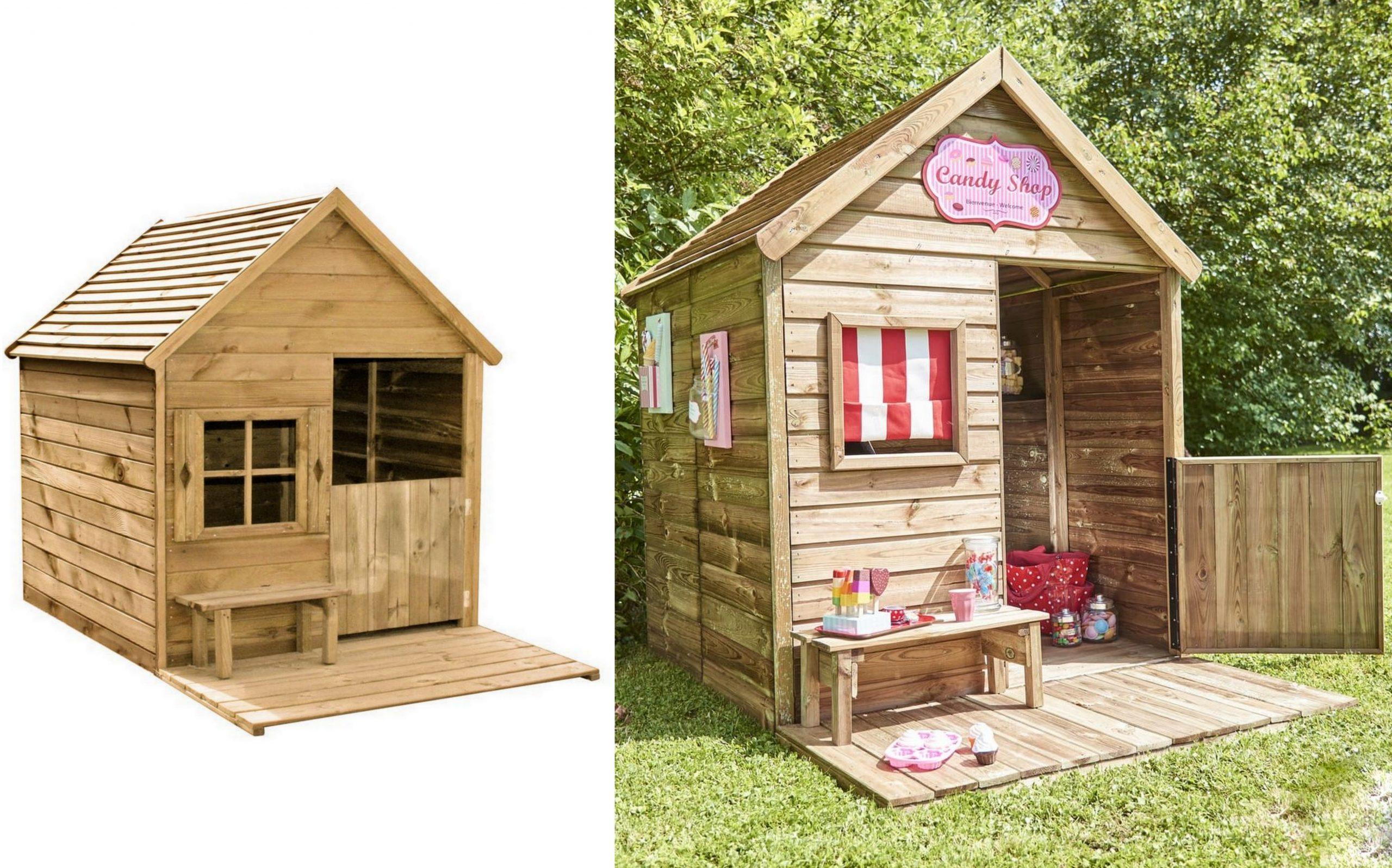 Une Cabane En Bois Pour Enfant À Prix Doux - Joli Place concernant Maison De Jardin Pour Enfants