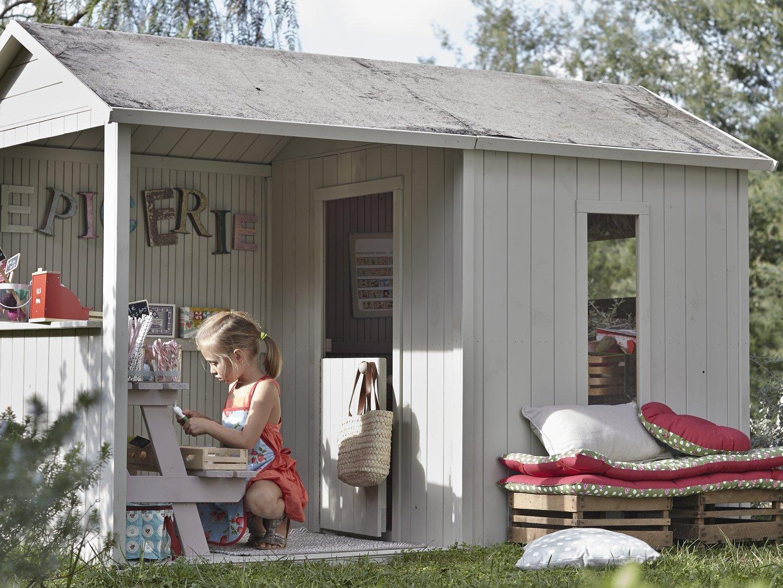 Une Cabane En Bois Pour Enfant À Prix Doux - Joli Place intérieur Cabane De Jardin Enfant Bois