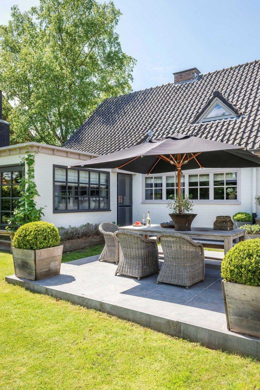 Une Maison Grise En Belgique destiné Jardin Zen Belgique