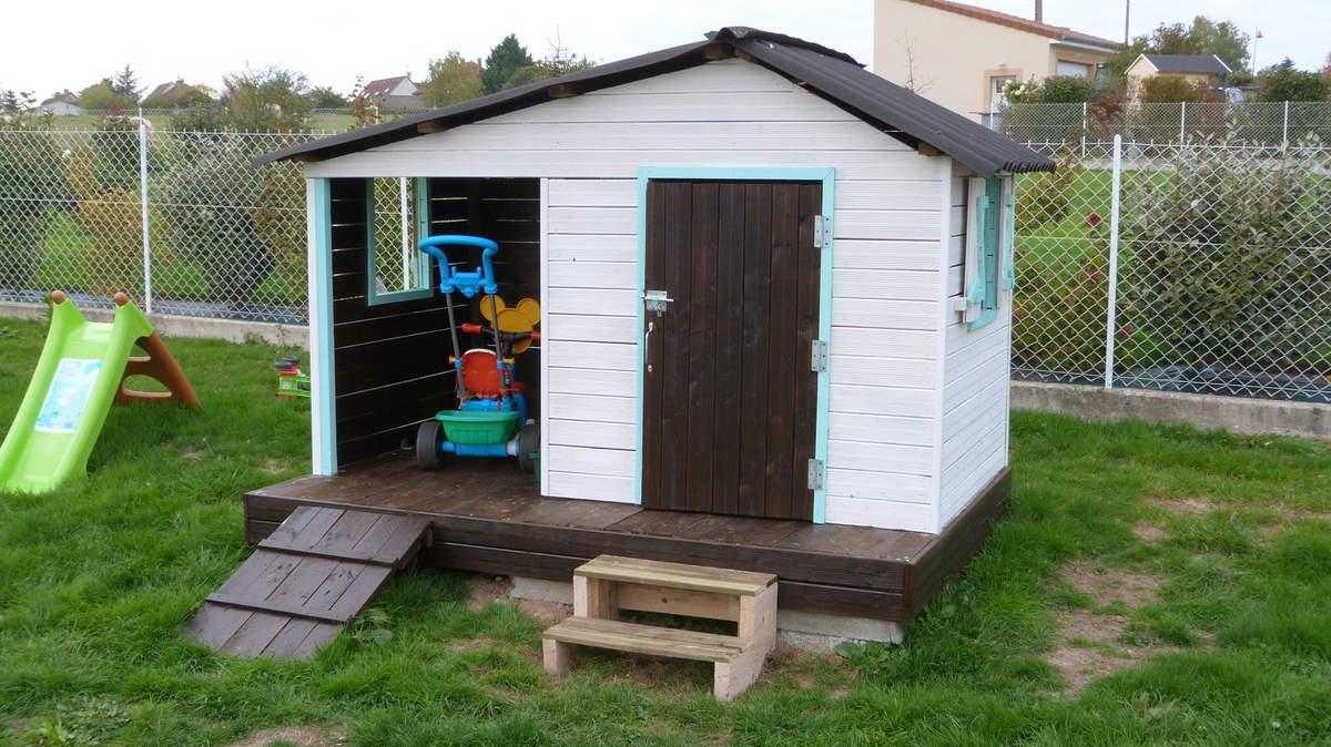 Une Maison Pour Les Enfants - Le Blog Du Bricolage tout Cabanne Jardin Enfant