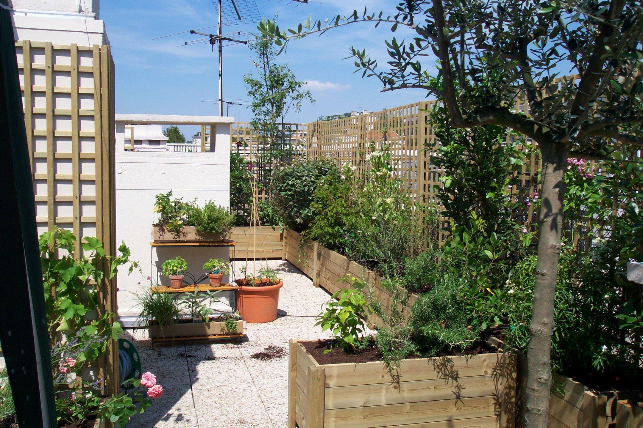 Une Terrasse Oui, Mais Sans Vis-À-Vis ! concernant Cacher Vis A Vis Jardin