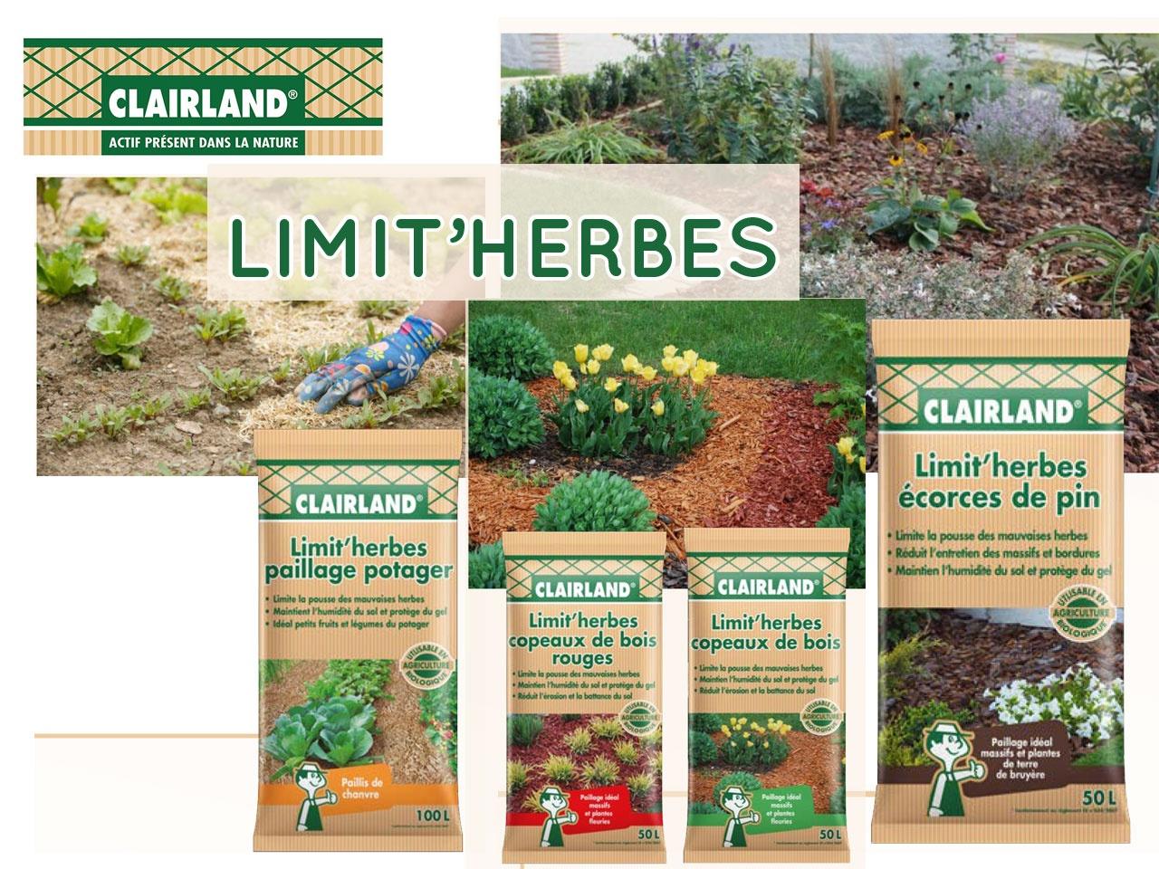 Univers Habitat > Marché Brico Jardin > Clairland Présente ... dedans Prix Copeaux De Bois Jardin