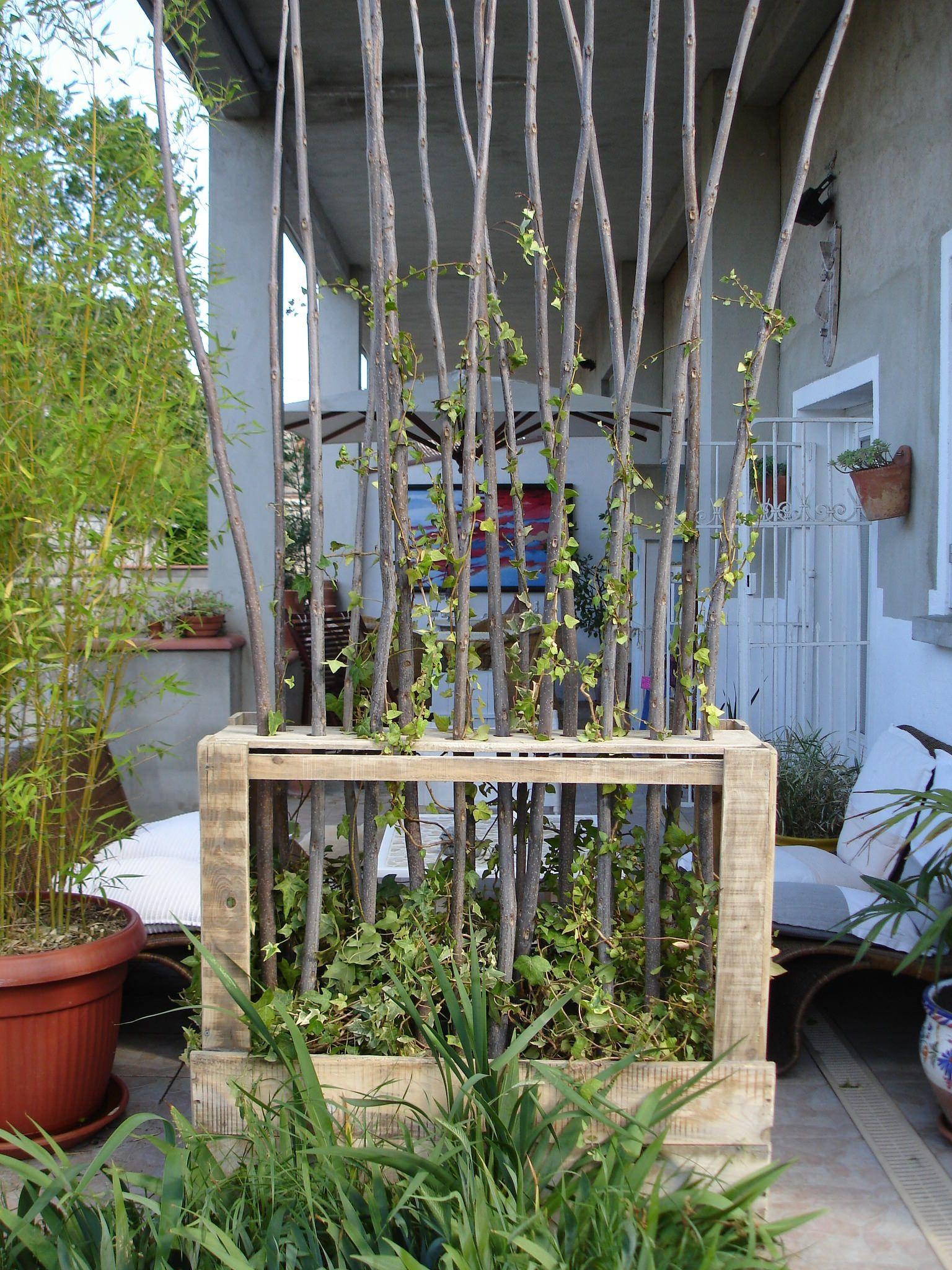 Upcycled Wooden Pallet Vegetal Fence | Jardin | Palette Bois ... tout Paravent De Jardin