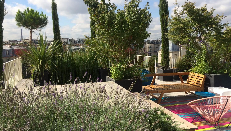 Urban-Green - Un Jardin À Vos Fenêtres, Paysagiste Paris serapportantà Amenagement Jardin Exterieur Mediterraneen