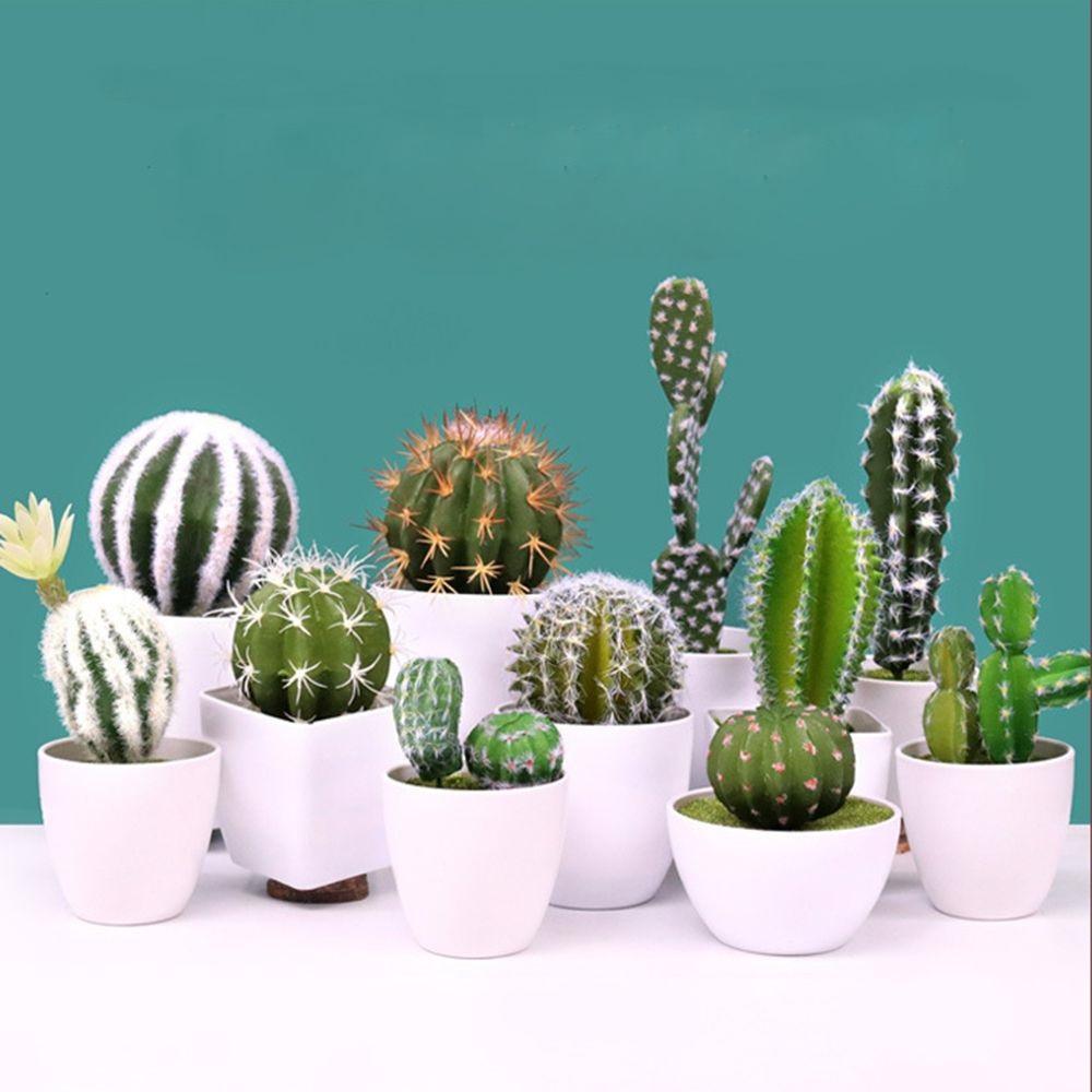 Us $0.8 26% Off Artificial Succulents Plant Garden Miniature Fake Cactus  Diy Home Floral Decoration Wedding Office Garden Decorative  Plant Artificial ... tout Jardin Cactus Miniature