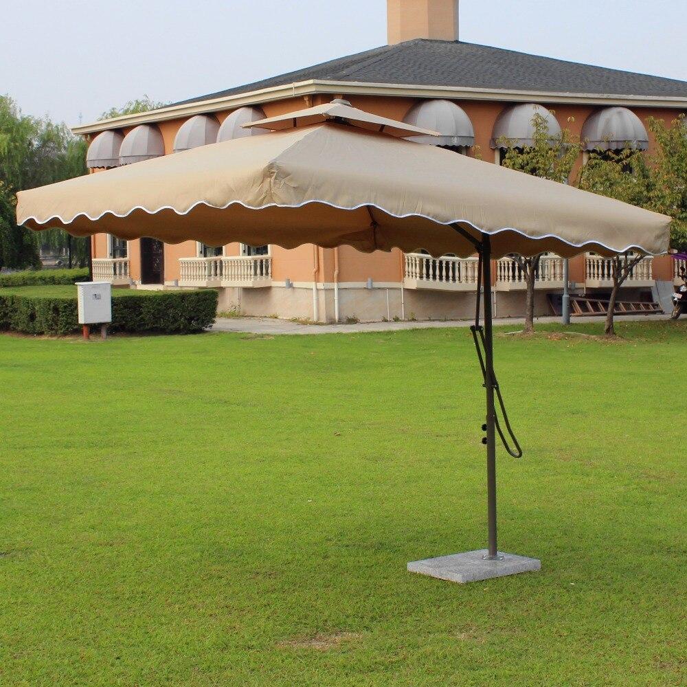 Us $139.0 |Mobilya'ten Avlu Şemsiyeleri Ve Zeminleri'de 2.2X2.2 Metre Çelik  Demir Açık Şemsiye Bahçe Güneş Şemsiyesi Veranda Mobilya Kapak Güneşlik ... destiné Meubles Veranda Jardin