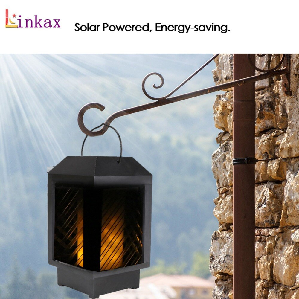 Us $15.25 42% Off|Ip65 Solar Lights Dancing Flames Led Outdoor Flickering  Torches Lantern Waterproof For Garden Patio Yard Pool Decoration-In Solar  ... pour Torches De Jardin