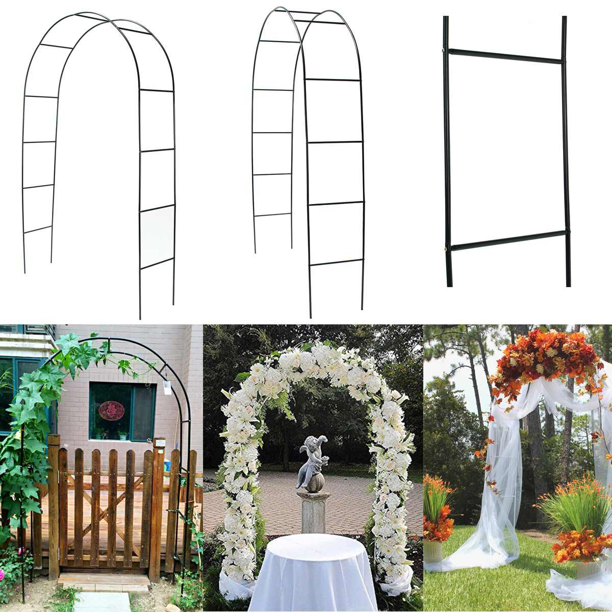 Us $17.2 15% Off|Diy Iron Wedding Arch Decorative Garden Backdrop Pergola  Stand Flower Frame For Marriage Birthday Wedding Party Decoration|Wedding  ... serapportantà Arches De Jardin