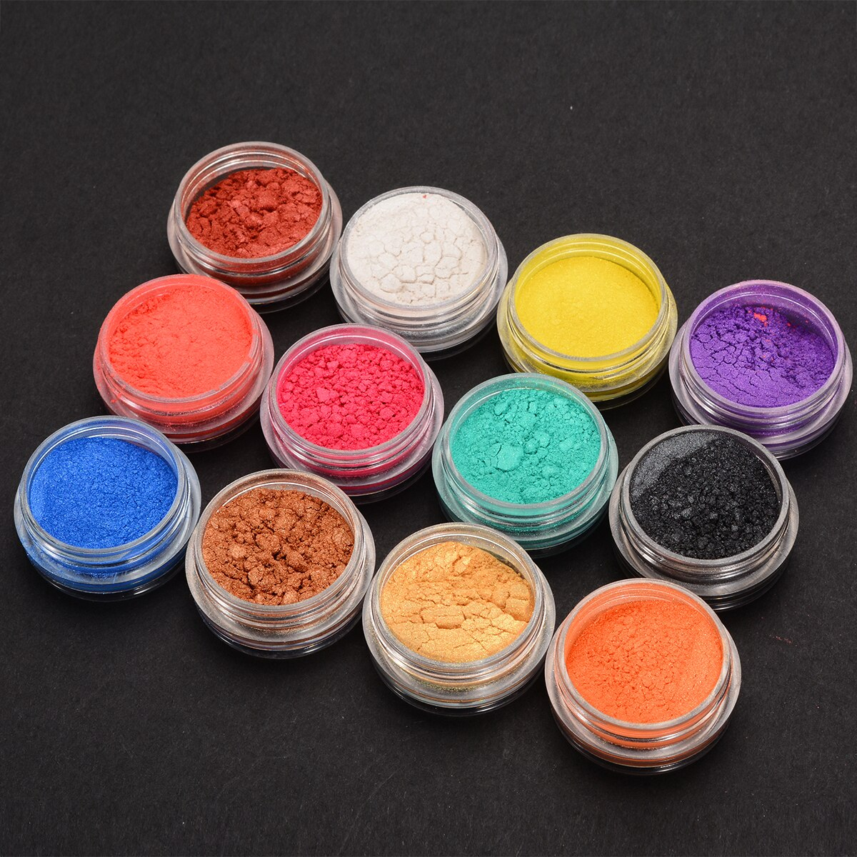 Us $4.56 40% Off|12Pcs Colors Soap Dye Shimmer Natural Mineral Mica Powder  Pigments For Jewelry Making Cutting Dies Paper Decor Diy Crafts|Diy Craft  ... à Decoration Minerale Jardin