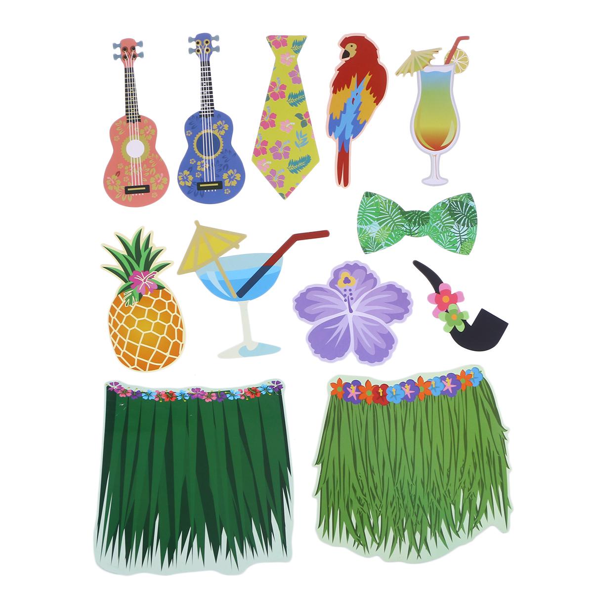 Us $7.57 35% Off|Ev Ve Bahçe'ten Fotoğraf Kabini Donanımları'de 36 Adet  Yaratıcı Fotoğraf Sahne Hawai Temalı Komik Fotoğrafçılık Sahne Doğum Günü  ... concernant Salon De Jardin Hawai