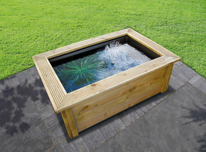 Utiliser Un Bassin Préformé Pour Son Bassin Hors Sol intérieur Bassin De Jardin Rectangulaire
