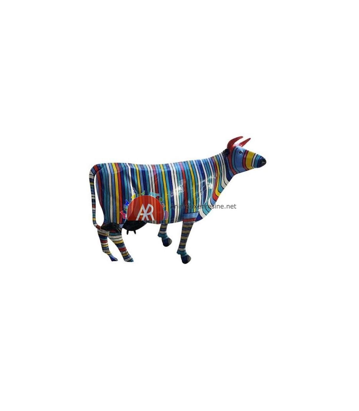 Vache En Resine Pour Jardin En Résine Multicolore Xxl | Animauxenresine serapportantà Nain De Jardin Fuck