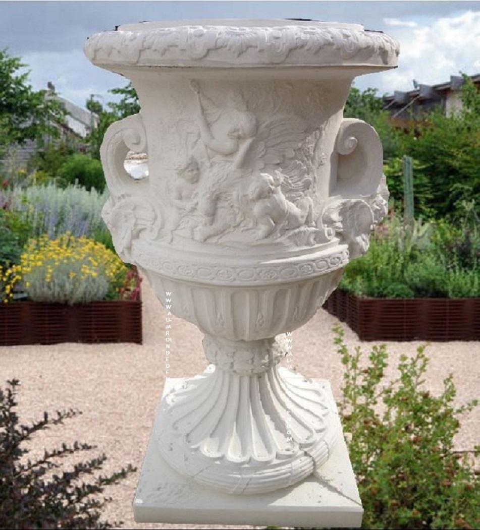 Vase Geant En Pierre Reconstituee Ff Geant avec Vase En Pierre Jardin