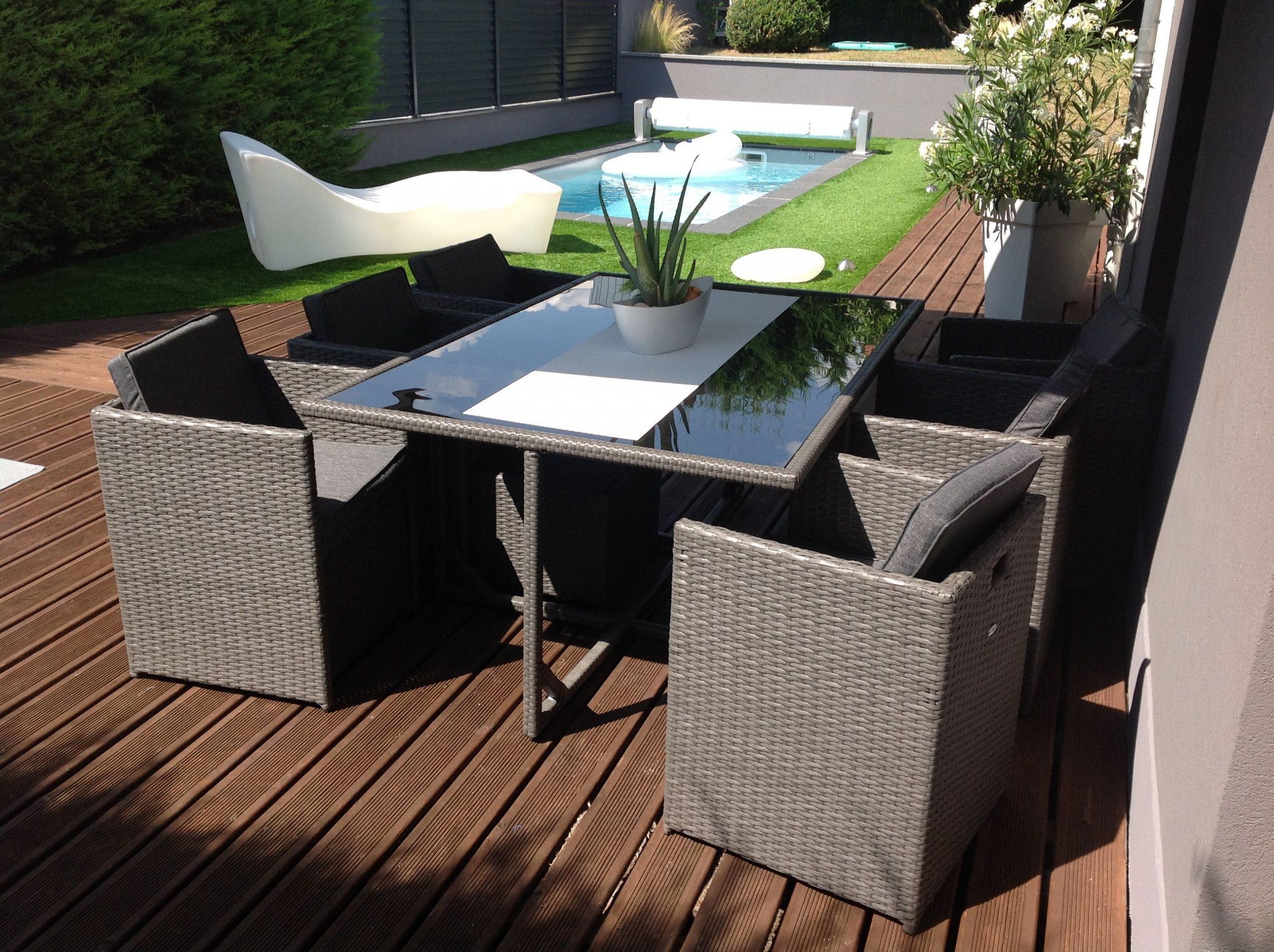 Vasto 10 En 2020 | Agrément De Jardin, Table De Jardin Et ... à Salon De Jardin En Resine Encastrable