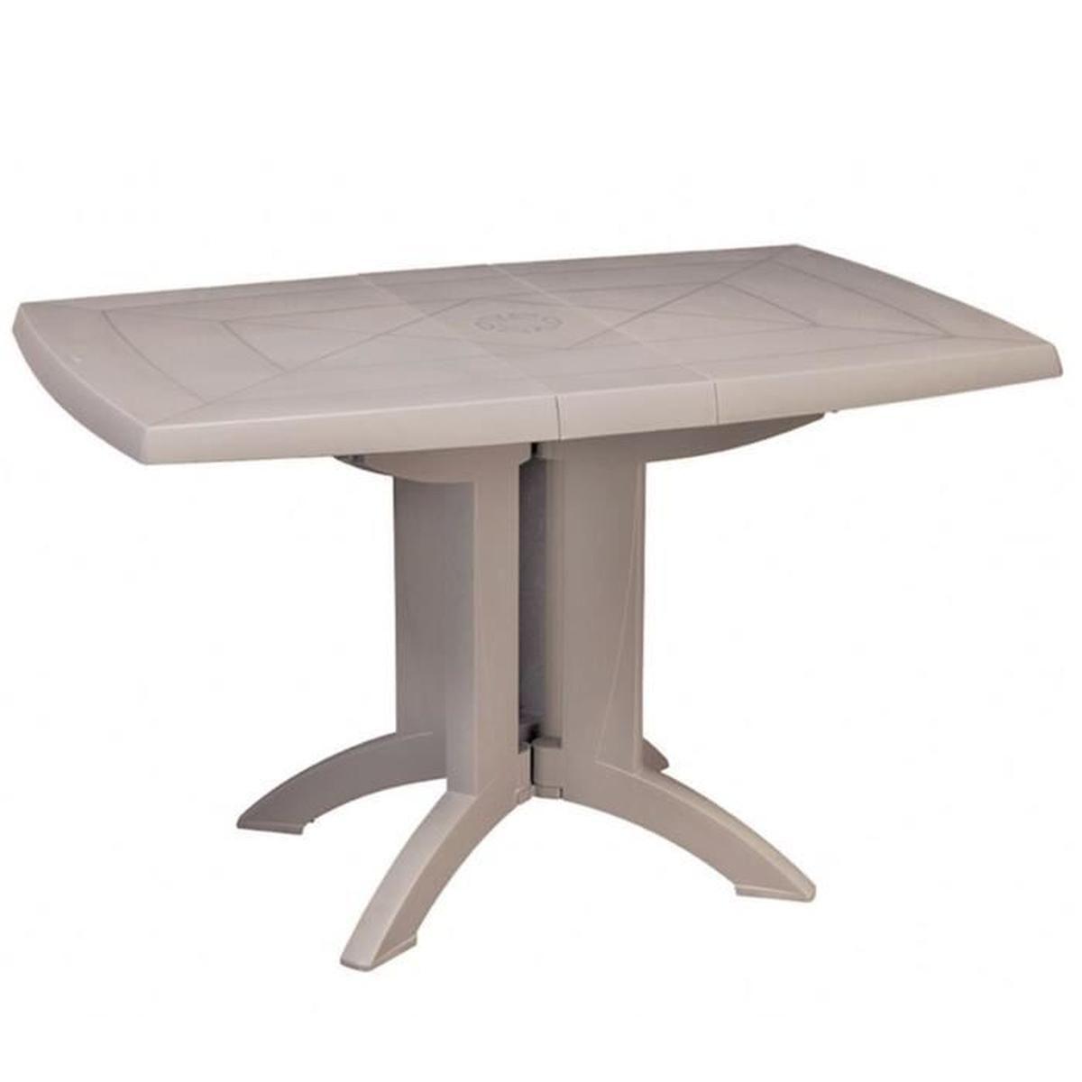 Vega Table De Jardin Grosfillex Pliante Beige En Résine (4 Places) intérieur Table De Jardin C Discount