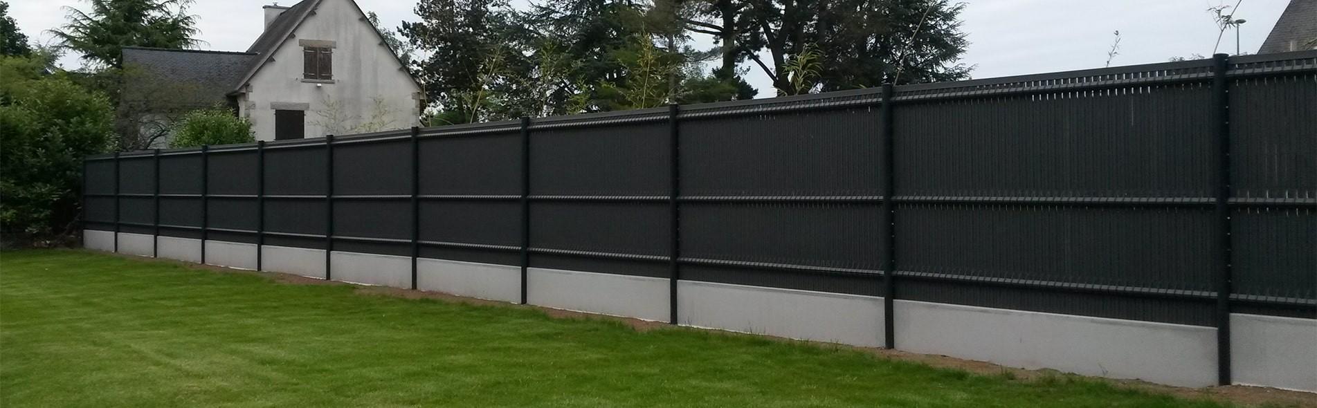 Vente De Clôtures Rigides (Pvc, Alu) Grillages & Portails à Panneau Occultant Jardin Pas Cher