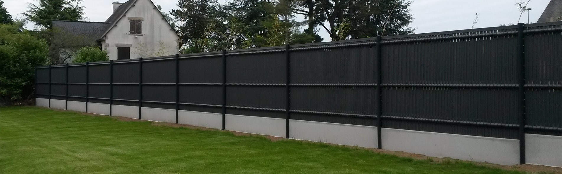 Vente De Clôtures Rigides (Pvc, Alu) Grillages & Portails concernant Cloture Jardin Grillage Rigide