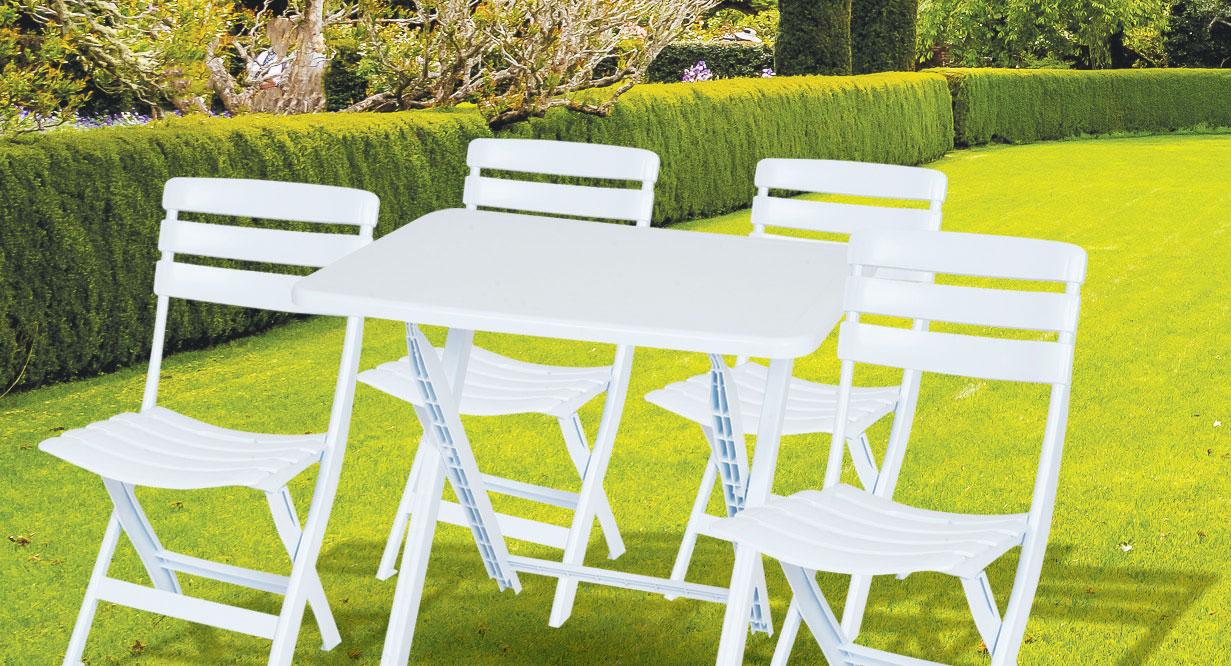 Vente Table + 4 Chaises Pliables., Bmb Tunisie dedans Fauteuil De Jardin Carrefour