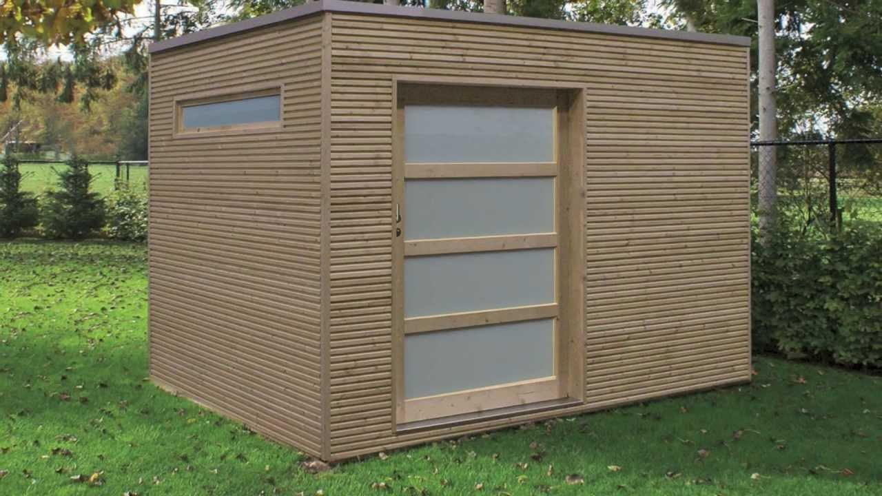 Veranclassic, Fabricant D'abris De Jardin Modernes intérieur Chalet Jardin Toit Plat