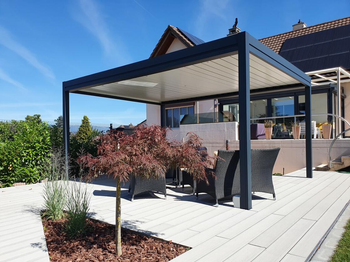 Vérandas Extensions Ou Pergolas Par Espace Et Lumière pour Salon De Jardin Pour Balcon